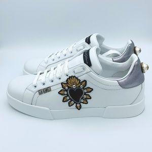 Dolce & Gabbana Shoes - NIB DOLCE & GABBANA Men's Leather Heart Sneakers